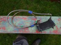 Ducati 900SS oil cooler with braided hoses (1993 model)