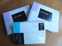 Brand New 100% White Cotton Sheets and Pillowcase