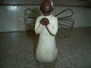 WOODEN ANGEL--WILLOW TREE--