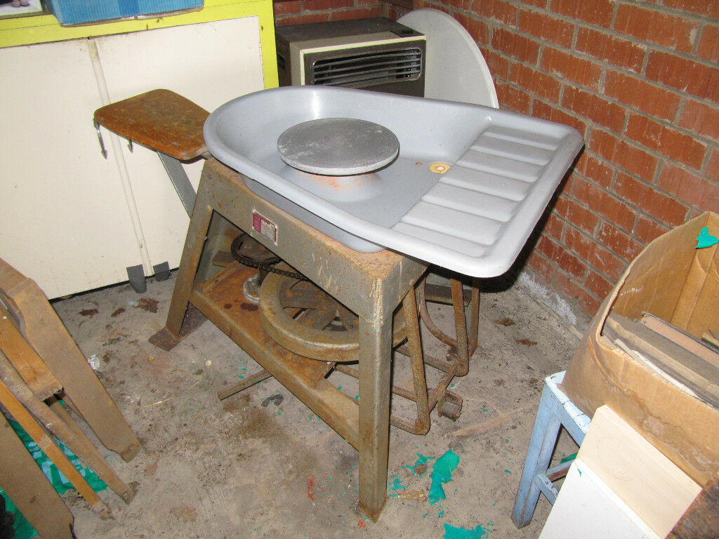 Potters Wheel; foot drive with 1 pedal & chain, seat and large tray. Very sturdy and efficient.