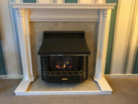 White wooden fire surround - great condition