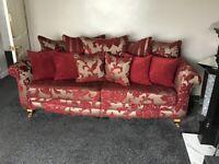 3 Seater Fabric Sofa & Footstool