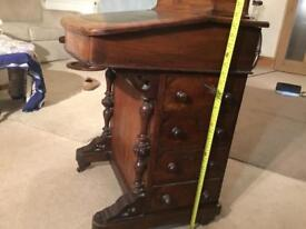 Small Antique writing desk as seen