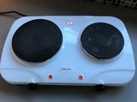 ANDREW JAMES Electric Twin Hob (Immaculate condition) AJ-ES001G2
