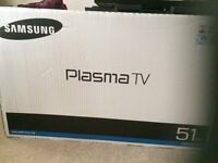 "51"" Samsung TV (Boxed)"
