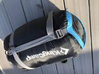 Kingcamp Treck 300 very warm Blue 3 - 4 Season Sleeping Bag in VGC (L). 1.6kg