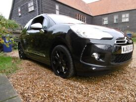 Citroen DS3 1.6 DSport Turbo 156 bhp. Hi-spec, 12 months MOT, immaculate condition.
