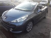 Peugeot 207cc convertible 1.6 16v petrol. Service histoy any inspection welcome