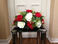 handmade table centre-pieces with artificial flowers for sale