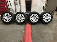 5x112 Volkswagen Steel wheels with Trims **Fits Volkswagen, Audi, Seat, Skoda)
