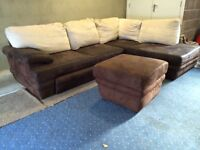 Can deliver- Corner Sofa Bed in Brown