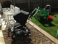 Bugaboo bee black pushchair with rain cover can post