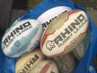 8x Rugby Balls - size 5