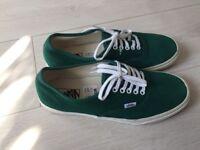 Original green suede leather vans size 9/43