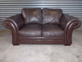 Creations Brown Leather 2-seater Sofa (Suite)