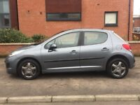 2010 Peugeot 207 1.4 S 5 Door with Full History and Mot April 19
