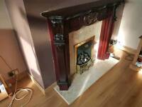 Fire surround back and plinth