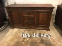 As new solid wood sideboard around 5ft