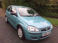 CORSA 1.3 CDTI LIFE 3 DR 04 REG IN BLUE WITH GREY TRIM, ONLY 34,200 MILES WITH SERVICE HISTORY
