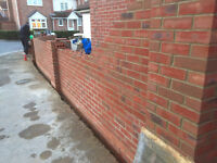 A small team of bricklayer are looking for private work
