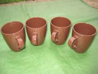 Four Brown Ceramic Mulberry Home Collection Mugs for £4.00
