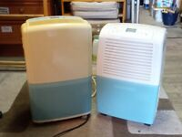 Pair of high capacity dehumidifiers