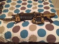 Gears of war golden retro lancer replica