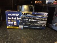 New Kincrome 51 pce socket set