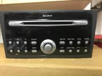 FORD SONY CDX-FS132 MP3 CD HEAD UNIT WITH CODE IN GOOD WORKING CONDITION