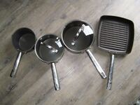 Meyer Anolon Professional Hard Anodized Non-Stick Pots and Pans Set with Griddle