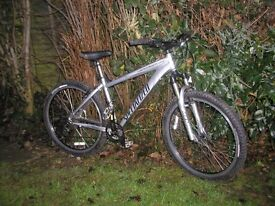 specialised hardrock sport,24 spd,front susp alloy,runs perfectly,tidy bike