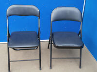 5 Leather foldable chairs (Delivery)