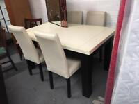 ** DINING TABLE & CHAIRS SET **
