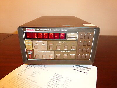 Keithley 224 1v To 105v 5na To 100ma Programmable Current Source - Calibrated