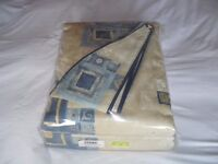 """MONTGOMERY LINED CURTAINS (NEW) 90"""" x 90"""" W 264 x D 228cm"""