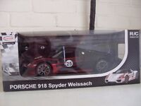 porsche 918 large remote control car brand new in box