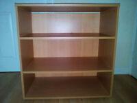 Small Deep Bookcase - Beech effect
