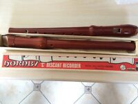 """2 x Hornby """"C"""" Descant Recorder 400H All Wood Model plus The School Recorder Book 1."""