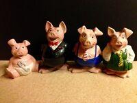 4 Natwest Pigs. £100 Dereham