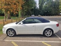 White Audi A4 Convertible One Lady Owner