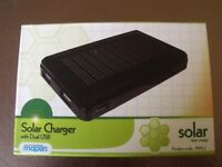 Solar Charger with Dual USB