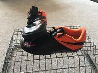 Juniors size 3 adidas black and orange football boots