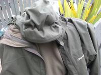 Sprayway Kenmore 3 in 1 Fleece 2550 Waterproof Hiking Coat Jacket, Green, Men XL