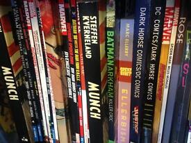 HUGE INSANE GRAPHIC NOVELS COLLECTION OVER 450 & COMICS 1000 also 40 manga books all mostly new