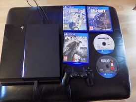 Play station 4 , controller FIFA 17, NEW COD , WATCHDOGS, UNCHARTED