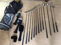 Wilson Graphite and Fatshaft golf clubs.