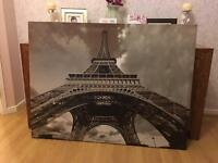 Large Eiffel Tower canvas