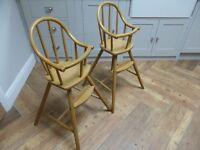 Kids High Chairs (2no.)