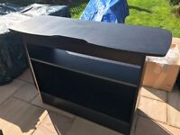 Black table for turntables
