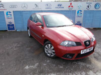PART X DIRECT OFFERS VERY CLEAN SEAT IBIZA 1.4 COMES WITH NEW TIMING BELT ,SERVICE NEW MOT WARRANTY